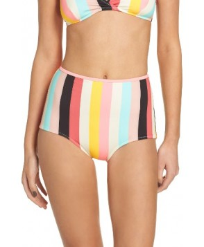 Solid & Striped Brigitte High Waist Bikini Bottoms - Ivory