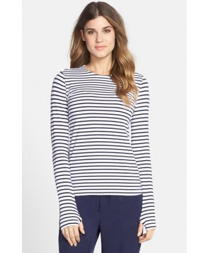 Mott 5 Stripe Jersey Top  - Blue