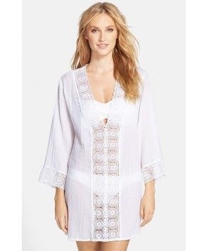 La Blanca 'Island Fare' V-Neck Cover-Up Tunic  - White