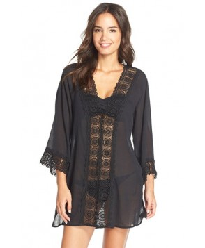 La Blanca 'Island Fare' V-Neck Cover-Up Tunic  - Black