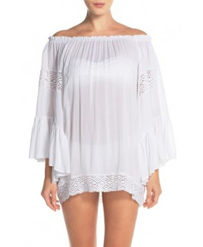 Surf Gypsy Crochet Inset Ombre Cover-Up Top