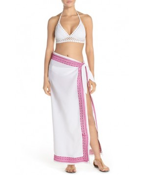 Mott 5 Embroidered Sarong /Medium - White