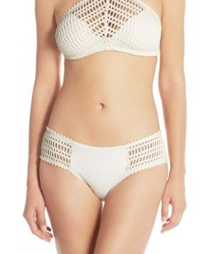 Robin Piccone 'Sophia' Crochet Bikini Bottoms  - Ivory