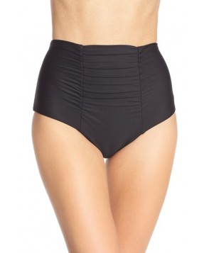 Becca 'Color Code' High Waist Bikini Bottoms  - Black
