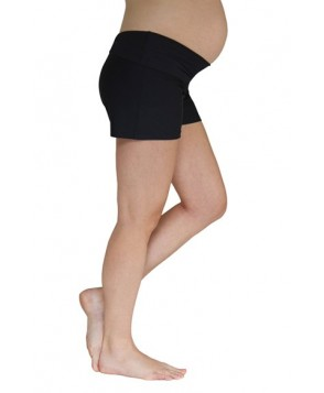 Mermaid Maternity Foldover Maternity Swim Shorts  - Black