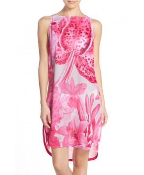 Ted Baker London 'Tonal Encyclopedia' Floral Print Cover-Up Dress