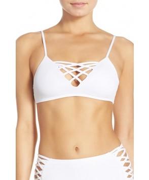 L Space Jaime Bikini Top, Size D - White