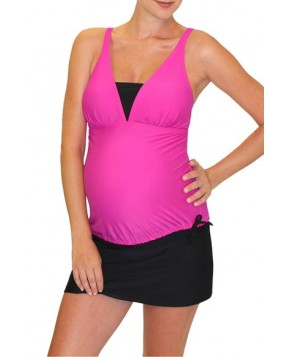 Mermaid Maternity Tankini Top  - Red
