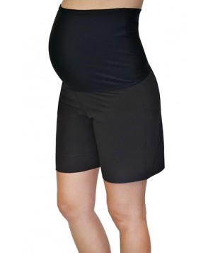 Mermaid Maternity Foldover Maternity Board Shorts  - Black