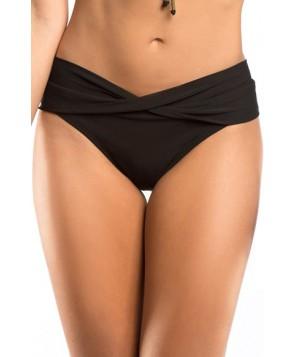 Robin Piccone Twist Waist Bikini Bottoms  - Black