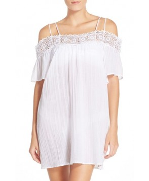 La Blanca 'Island Fare' Cotton Cover-Up Slipdress /Medium - White