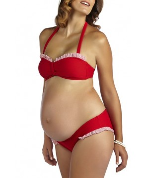 Pez D'Or 'Montego Bay' Ruffle Maternity Bikini - Red