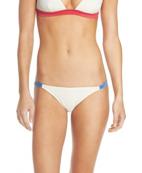 Solid & Striped 'Morgan' Bikini Bottoms  - Ivory