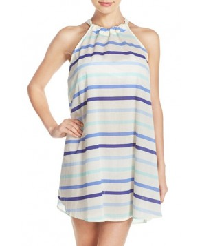 Kate Spade New York Stripe Cotton Cover-Up Dress /Small - Blue