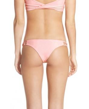 Issa De' Mar 'Hina' Cutout Sides Brazilian Bikini Bottoms  - Pink