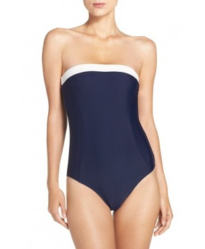 Ted Baker London Strapless One-Piece Swimsuit  - Blue