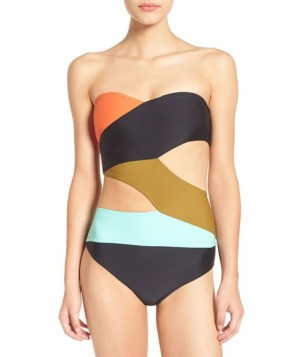Volcom 'Simply Solid' Cutout One-Piece Swimsuit