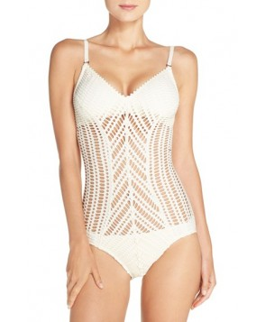 Robin Piccone Sophia One-Piece Swimsuit - Ivory