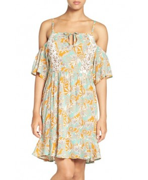 Maaji 'Botanic Sandy' Cold-Shoulder Cover-Up Dress