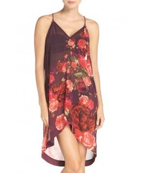 Ted Baker London 'Juxtapose Rose' Cover-Up Dress  - Purple