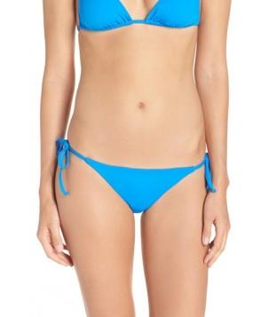 Becca 'Color Code' Side Tie Bikini Bottoms  - Blue