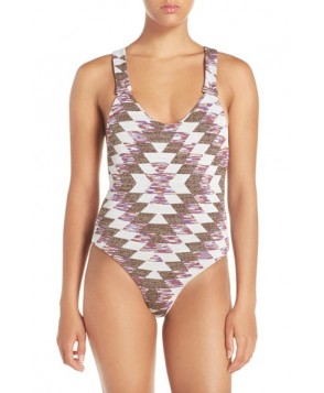 Lovers + Friends 'Rae' Knit One-Piece Swimsuit  - White