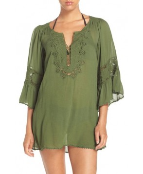 L Space 'Breakaway' Cover-Up Tunic  - Green