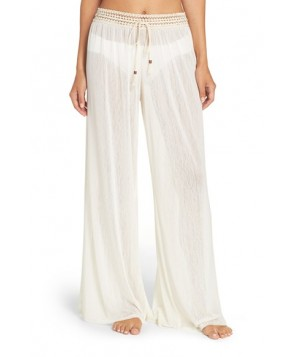 Robin Piccone Mesh Cover-Up Pants  - Ivory