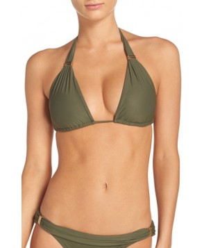 Vix Swimwear 'Bia' Halter Bikini Top, Size D - Green