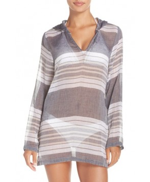 Caslon Hooded Cover-Up Tunic  - Black