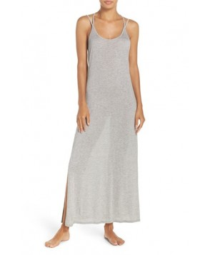 Stem Strappy Back Cover-Up Maxi Dress  - Grey