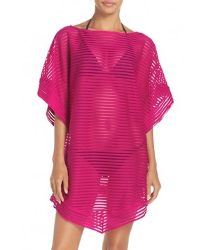 Ted Baker London Stripe Cover-Up Tunic  - Pink