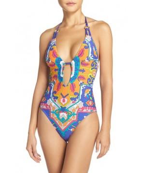 Trina Turk 'Tapestry' Halter One-Piece Swimsuit