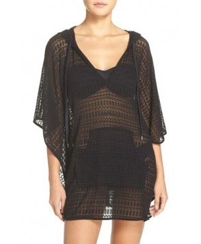 La Blanca Beyond The Beach Cover-Up Poncho /X-Large - Black
