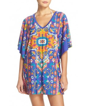 Trina Turk 'Tapestry' Strappy Back Cover-Up Tunic
