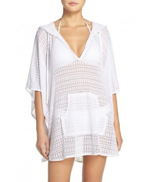 La Blanca Beyond The Beach Cover-Up Poncho /X-Large - White