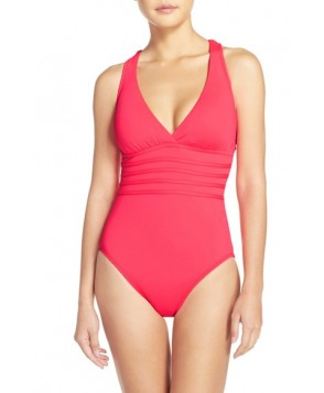 La Blanca Cross Back One-Piece Swimsuit  - Orange