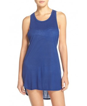 Leith Racerback Cover-Up Tank Dress - Blue