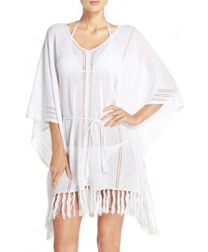 Tommy Bahama Linen Blend Cover-Up Poncho /X-Large - White