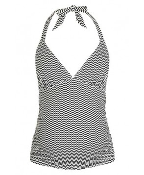 Topshop Zigzag Print Halter Maternity Tankini Top  US (fits like 1-1) - Black