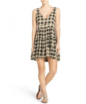 Acacia Swimwear Check Cover-Up Dress