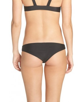 Acacia Swimwear Makai Cheeky Bikini Bottom  - Black