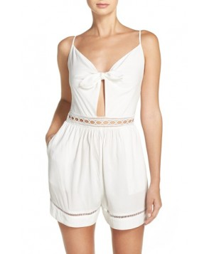 Seafolly Tie Front Playsuit Cover-Up