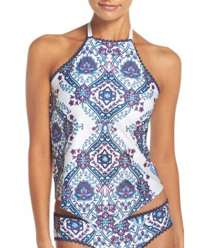 Becca Inspired Tankini Top  - Blue