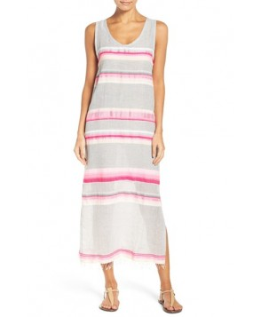 Lemlem Elsi Cover-Up Maxi Dress  - Coral