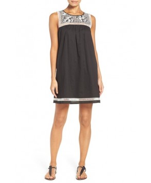 Tory Burch Embroidered Yoke Cover-Up Dress