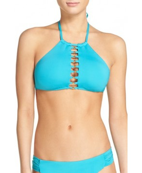 Trina Turk High Neck Bikini Top