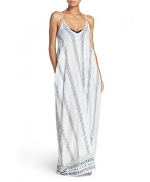 Elan V-Back Cover-Up Maxi Dress  - White