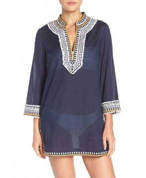 Tory Burch Fringe Cover-Up Tunic - Blue