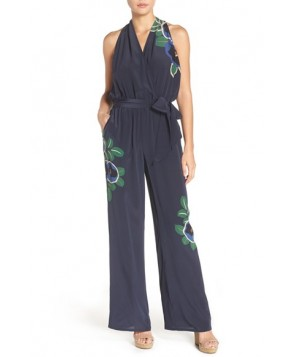 Tory Burch Avalon Silk Cover-Up Jumpsuit